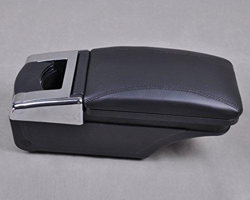 Leder Mittelkonsole Armlehne Aufbewahrungsbox (Schlüsselloch-center)