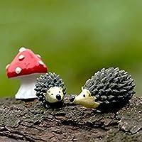 bcletty miniatura jardín de hadas erizo seta decoración para el hogar al aire libre Decor