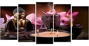 DekoArte - Tableau moderne Bouddha zen 178 200x100cm