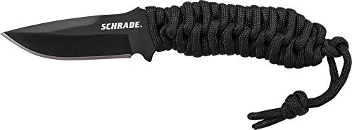 Schrade SCHF46 Full Tang Fixed Blade Neck Knife with Drop Point Blade by Schrade -