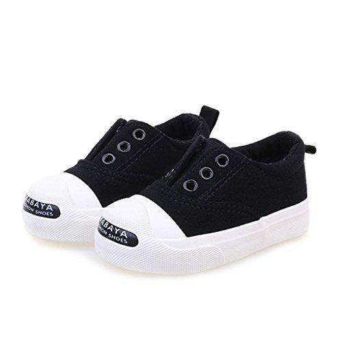 ALUK- Chaussures de bébé - Chaussures de toile pour enfants Apprenez les chaussures paresseuses ( Couleur : Rouge , taille : 27 ) Noir