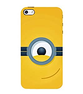 FUSON One Eye On Yellow 3D Hard Polycarbonate Designer Back Case Cover for Apple iPhone SE
