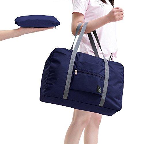 Handgepäck Faltbare Reisetasche Reise Handtasche Schulter Organizer (Dunkel blau) Dunkel blau