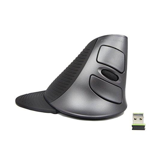 JTD Mouse Wireless Mouse Verticale ergonomico con poggiapolsi Staccabile Riduce Il Dolore alla Mano/al Polso