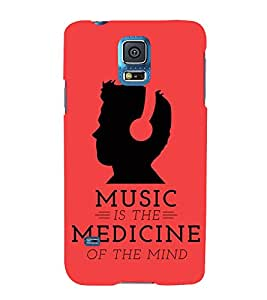 FUSON Music As Medicine 3D Hard Polycarbonate Designer Back Case Cover for Samsung Galaxy S5 Neo :: Samsung Galaxy S5 Neo G903F :: Samsung Galaxy S5 Neo G903W