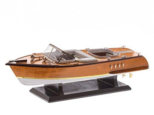 aubaho Modellschiff Sportboot Italien Schiffsmodell Yacht Schiff Boot Modell 50cm (Schiffs Modell Aus Holz)