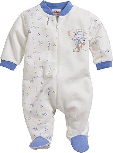 Schnizler Baby-Jungen Schlafoverall Interlock Maus Schlafstrampler, Beige (natur 2), 62