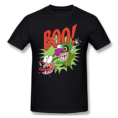Jamessmo Grafik-Kurzarm Courage The Cowardly Dog Männer Funky Black M T-Shirt -