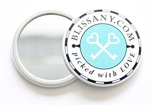 stylischer BLISSANY-Specchio tascabile by di qualità in metallo 7,5cm x (4 Mm Specchio)
