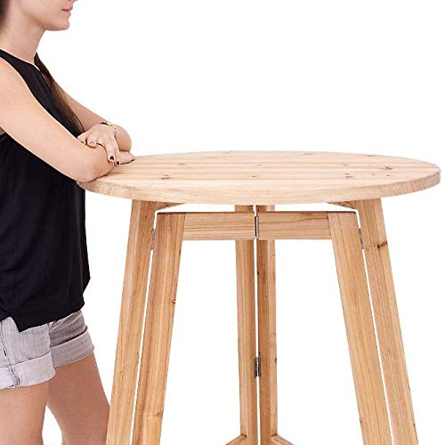Stehtisch Massiv Holz Bistrotisch Bartisch Holzstehtisch Gartentisch Klapptisch klappbar PARTY Ø78cm - 3