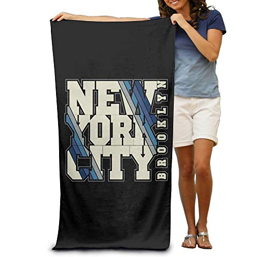 VTXWL Qinf New York City Adult Beach Towels Fast/Quick Dry Machine Washable Lightweight Absorbent Plush Multipurpose Use for Swim,Beach,Camping,Yoga