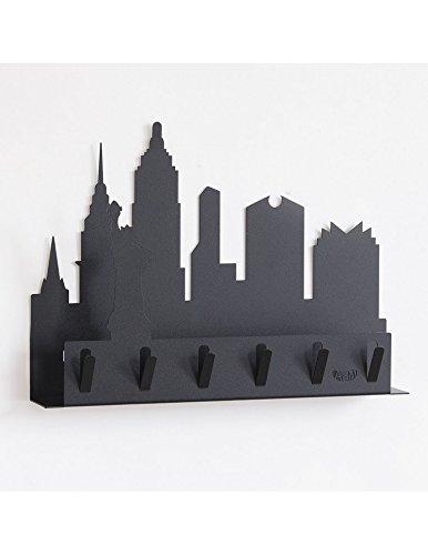 new-york-portachiavi-portalettere-nero