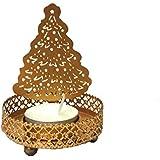 Hashcart Traditional Tea Light Candle Holder/Metal Candle Light Holder Set/Designer Votive Candle Holder Stand/Table Decorative Candle Holders, Christmas Tree Shadow Tea Light For Home Living Room & Office