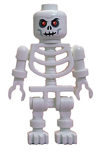 Lego weißes Skelett rote Augen white skeleton red eyes Minifigur weiss