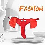 Graptsepk Tanga con Forma de Elefante Tanga de Tanga para Hombres Lencería Novedad Bolsa de pene Sexy Ropa Interior Divertida Calzoncillos de Moda