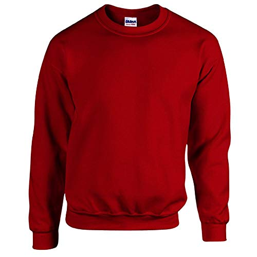 Gildan - Heavy Blend Sweatshirt - S, M, L, XL, XXL, 3XL, 4XL, 5XL /Cardinal Red, 5XL Rote Baumwolle Pullover