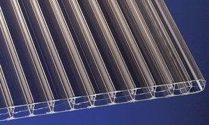 Polycarbonat Stegplatten Hohlkammerplatten bronce 2000 x 1200 x 16 mm (37,60 EUR/qm)