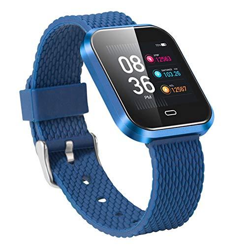 Wasserdichte Smartwatch, Schrittzähler Schlafüberwachung Alarm Benachrichtigung Push Leichte Pulsmesser Fitness-Monitor Touchscreen Bluetooth Stoppuhr Für Ios Android Phone,E