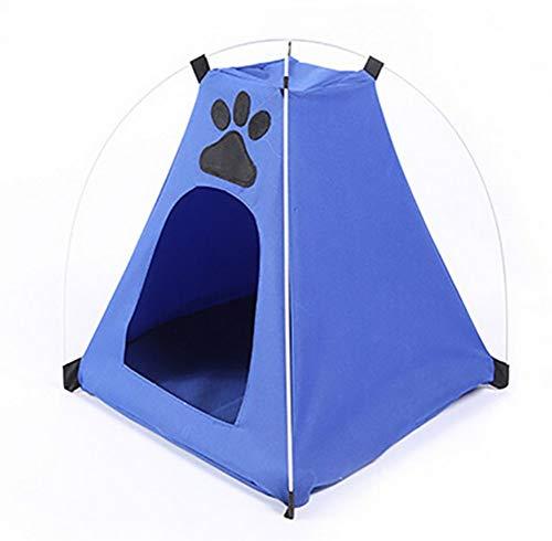 GONGFF Haustier-Zelt-faltender Hundehaus-kampierender Katzen-Hundehütte-Bett-Strand-Zelt-Zwinger mit der gestreiften