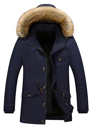 JZWXX - Manteau - Parka - Homme UK1116 Blue