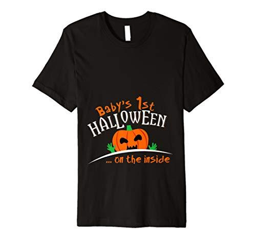 (Baby 's Kürbis 1. Halloween auf der Außenseite T-Shirt)