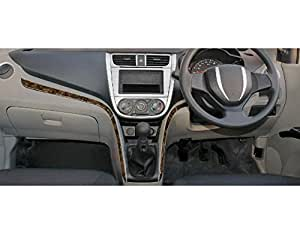 Autographix Pinnacle Dashboard Trims for Ford Ecosport (Brushed Aluminuim and Walnut Burl)