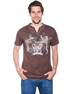 Krüger - Herren Trachten T-Shirt, Löwenbändiger (Artikelnummer: 92203-7)