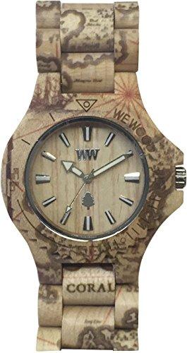 Orologio unisex in legno Wewood DATE PRINT MAGELLANO BEIGE