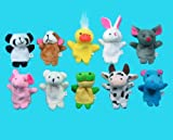 Qiyun 10 Pc Soft Plush Animal Finger Pup...