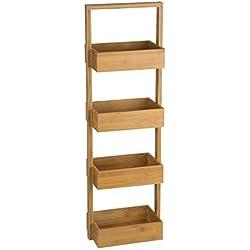 Mueble de bambú con 4 estantes