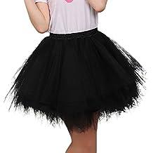 FEOYA Mujer Adultos Falda de Ballet Skirt Princesas Tutú de Tul para Baile Disfraces Fotografía Fiesta Despedida de Soltera Talla Única 19 Colores a Elegir