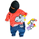 Toddler Kids Baby Boys Sweatshirt Cartoon Tops Jeans Pants Trousers Outfits Set
