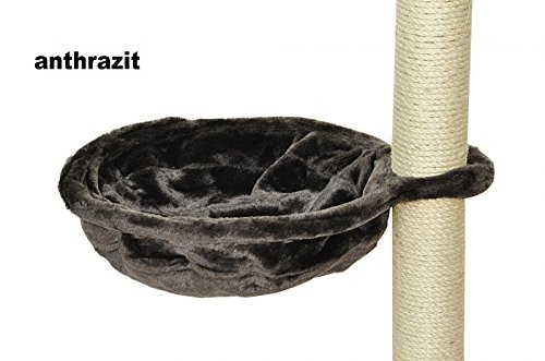 nanook Liegemulde für Kratzbaum mit Metallrahmen - viele Farben - 40 cm Ø - anthrazit