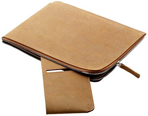 germanmade. Apple iPad / Tablet Hülle mit Reißverschluss aus Leder camel / hellbraun -