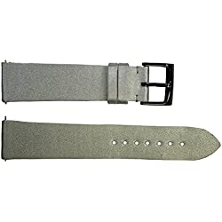 Watch Strap in Gray Satin - 20 - - buckle in stainless steel - B20036
