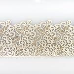 Coximus gebrauchsfertige essbare Spitze für filigrane Spitzen-Deko von Torten | 38 x 8 cm fertige Zucker-Spitze mit Blüten & Blätter|Farbe: Perlmutt |elastisches Icing fertig zum Gebrauch | Sweet Lace