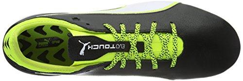 Puma Evotouch 2 Fg, Scarpe da Calcio Uomo Nero (Schwarz (black-white-safety yellow 01))
