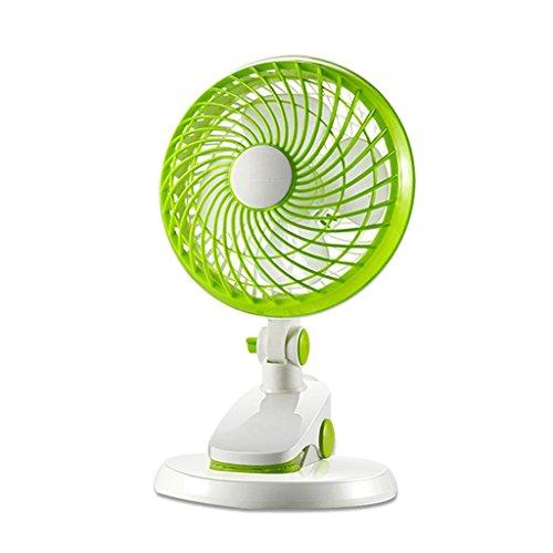 USB-Ventilatoren Fan Silent Green Starker Wind USB-Schnittstelle 7-Zoll-Small Student Office Wohnheim Zimmer Station Clip Fan Hang Mini Fan energiesparend drehbar UOMUN