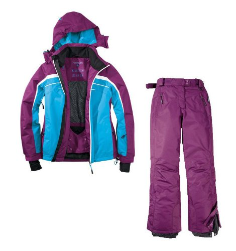 Skianzug 2tlg. Funktioneller Skianzug Für Damen Gr. 42 M-1 Farbe. Blau-Violett Schneeanzug