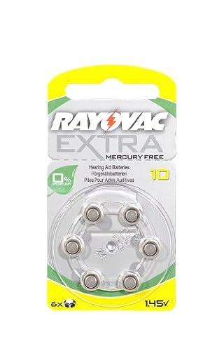 Rayovac Extra Mercury Free Hearing Aid Batteries x 60 Cells Size 10