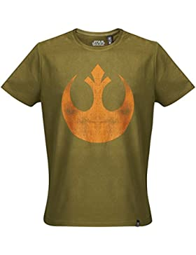 GOZOO Star Wars T-Shirt Herren The Rebel Alliance Starbird 100% Baumwolle Grün