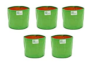 """BIO BLOOMS AGRO INDIA PRIVATE LIMITED Terrace Gardening Grow Bag 9"""" X 9"""" (Pack of 5) Bio_1b"""