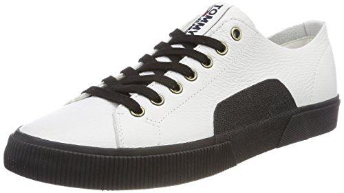Hilfiger Denim Herren TJ URBAN Leather Sneaker, Weiß (White 100), 42 EU