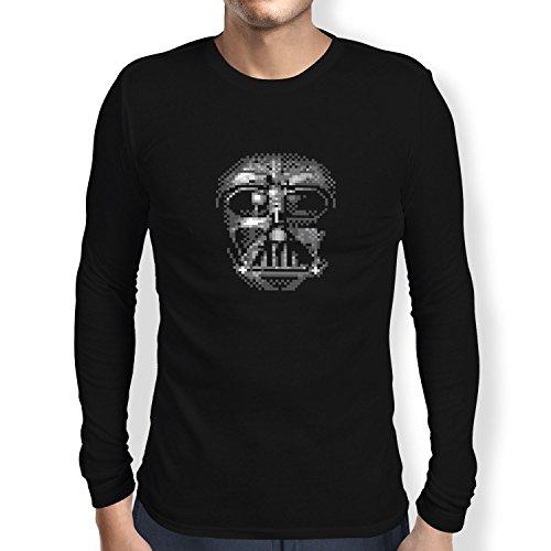 TEXLAB - Pixel Mask - Herren Langarm T-Shirt Schwarz