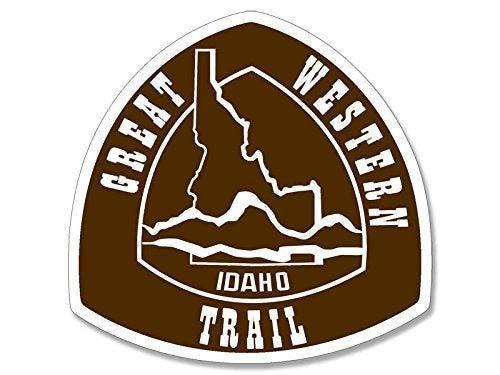 EricauBird Grseat Western Trail Idaho Schild Haped Aufkleber (englischsprachig), mit Zitat