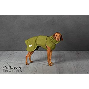Collared-Creatures-Dog-Drying-Coat-Towling-Microfiber-Lined-Fleece-Jacket-Green-available-sizes-XS-S-M-L-XL-XXL