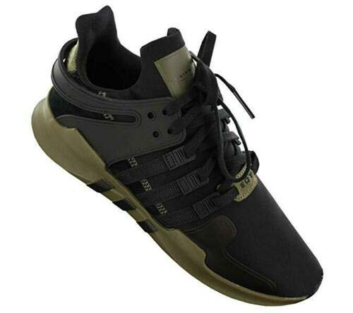 adidas Originals Mens Sneakers Equipment Support ADV Trainers Fashioin Shoes Black/Cargo New CM7415 (42 EU)