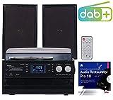auvisio Stereoanlagen: 5in1-Plattenspieler mit DAB+/FM-Radio, Bluetooth, CD/Kassetten-Player (Stereoanlage mit Plattenspieler)