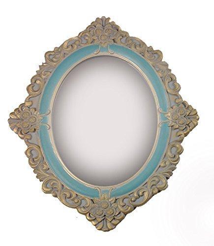 charma nter rústico madera antiguo de espejo para pared perchero Espejo Piso Espejo barroco