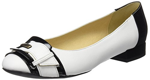 Geox D Wistrey e, Ballerine Donna Bianco (White/black)